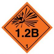 Hazard safety sign - Explosive 1.2B 019
